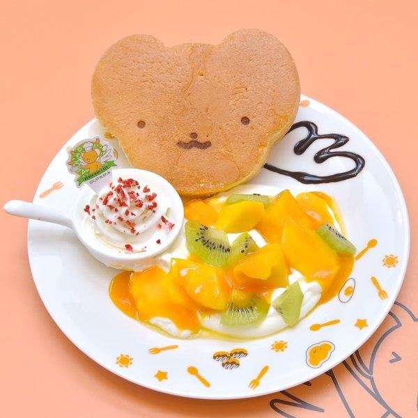 ケロちゃんパンケーキ マンゴークリーム