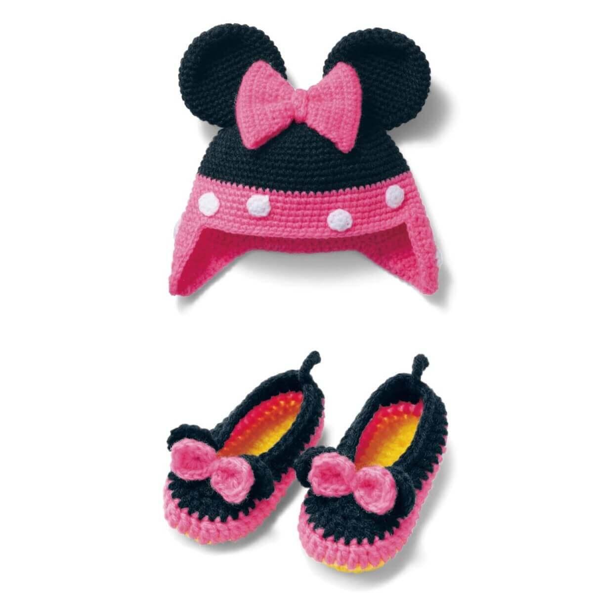 ミニー ニット帽&靴下手作りキット