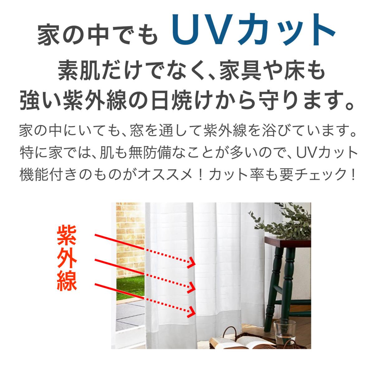 ミッキーモチーフの風を通すUVカット・遮像ボイルカーテン UVカット