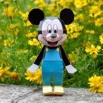 ミッキーマウス ペーパークラフト 正面