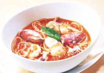 ココス「魚介のスープスパゲティ」