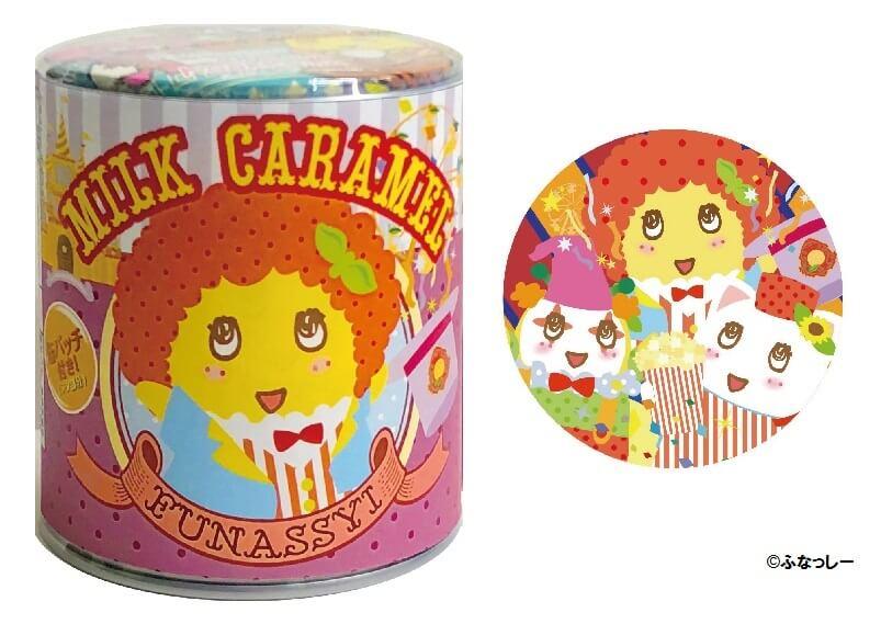 テーマパークふなっしー 缶バッジ付きミルクキャラメル