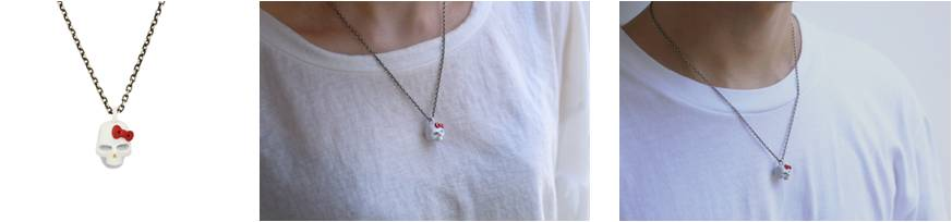 × HELLO KITTY SKUL NECKLACE FULL COLOR