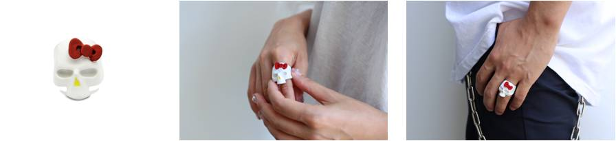 × HELLO KITTY SKUL RING FULL COLOR