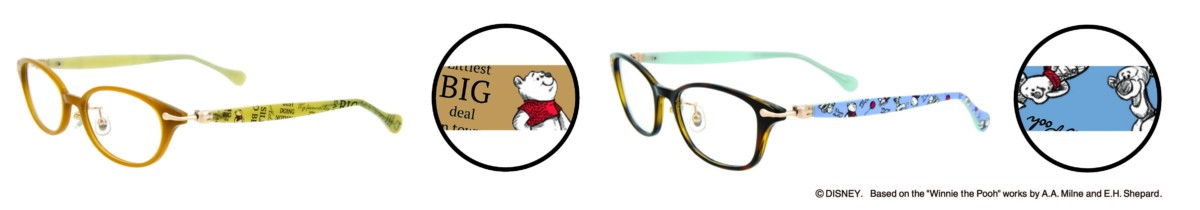 """「Disney Collection Created by Zoff """"Winnie the Pooh Series""""」London Line テンプルデザイン"""