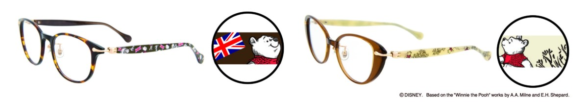 """「Disney Collection Created by Zoff """"Winnie the Pooh Series""""」London Line テンプルデザイン2"""
