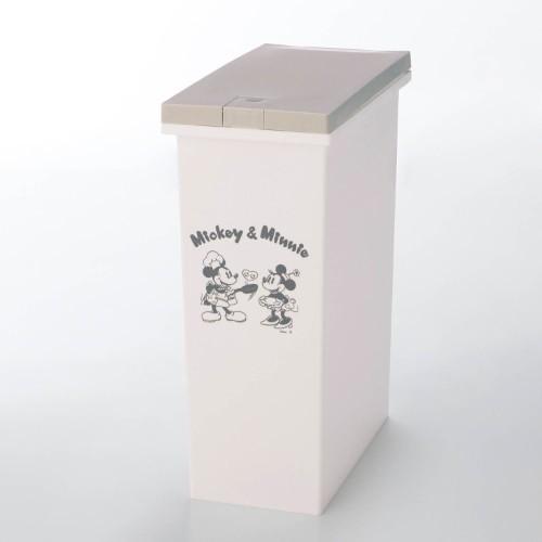 プッシュ式キッチンゴミ箱 ベージュ