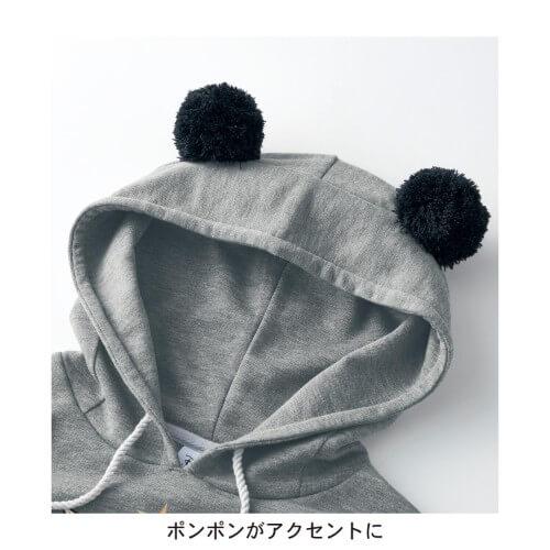 ミッキーマウス90thポンポン付きハグミーパーカ フードデザイン