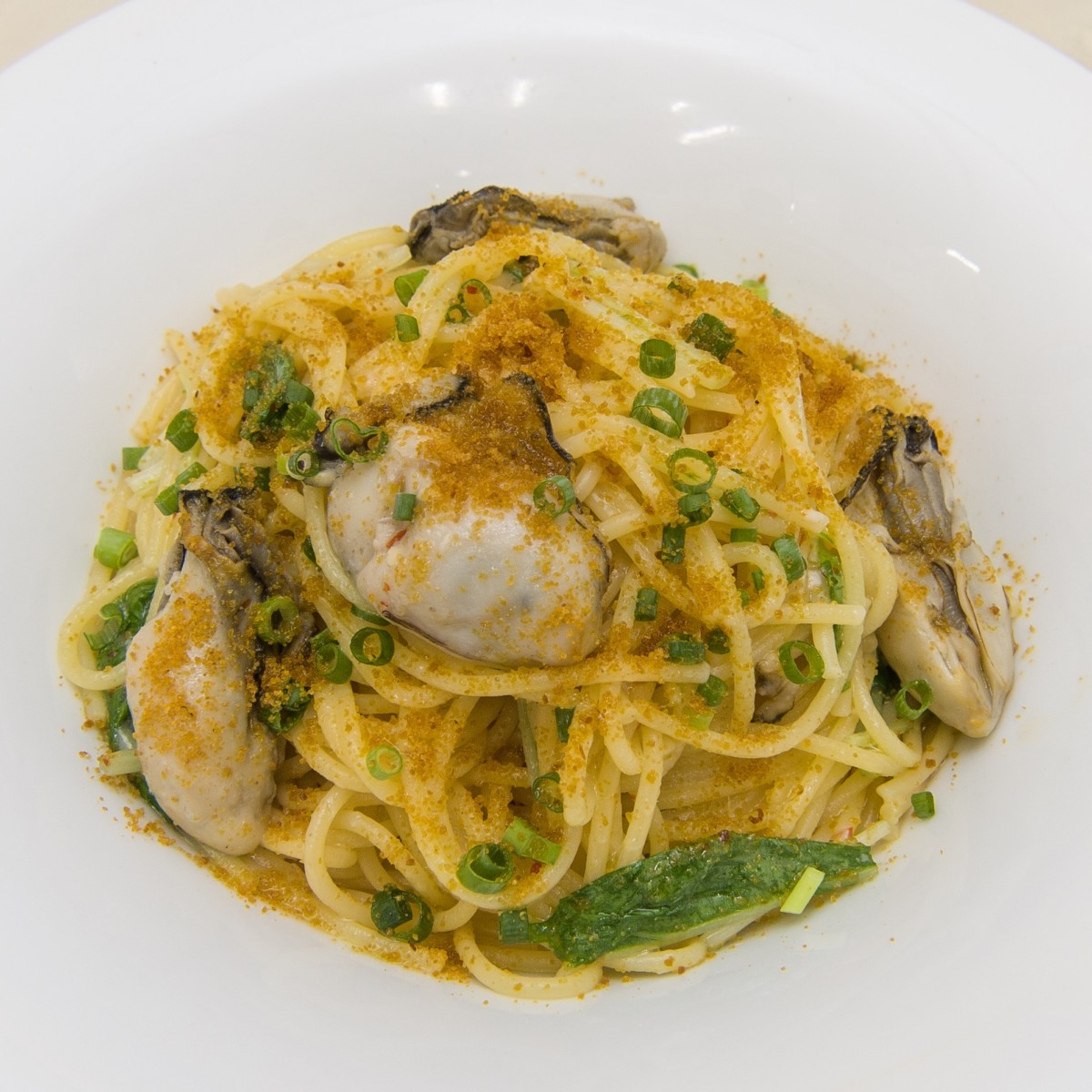 牡蠣とからすみのスパゲッティ