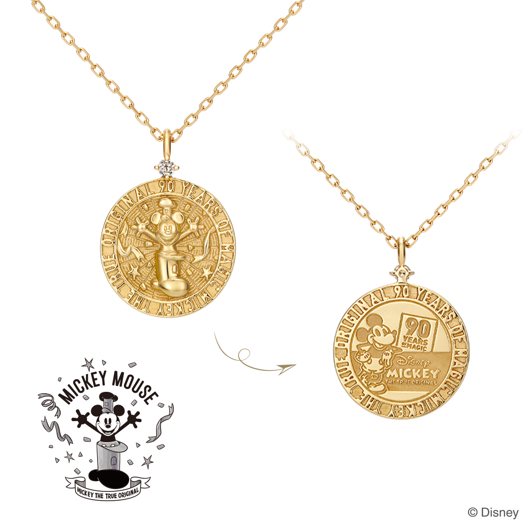 """MICKEY THE TRUE ORIGINAL"" Celebration Coin Necklace"