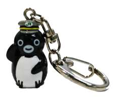 Suica のペンギン立体キーホルダー (運転士)