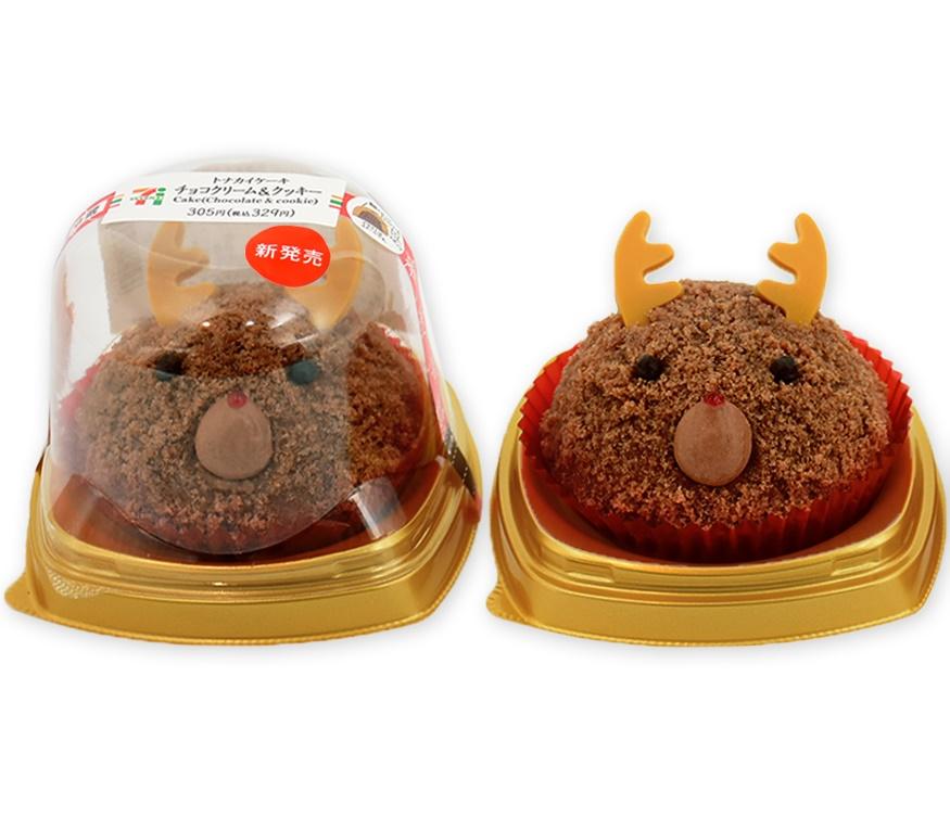 セブン‐イレブン「トナカイケーキ チョコクリーム&クッキー」