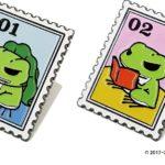 切手風ピンズ 2種