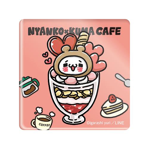にゃんことくまカフェ アクリルマグネット(にゃんこパフェ)