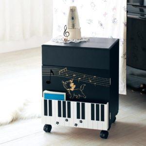 ピアノワゴン ブラック