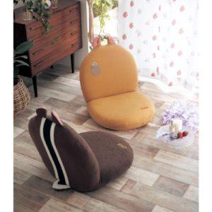 チップ&デールのモチーフ付き座椅子