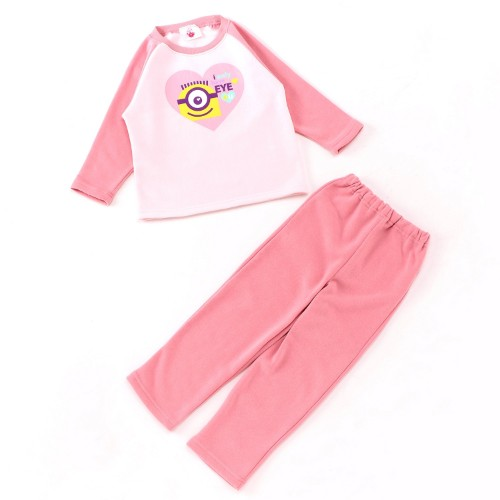 ガールズ長袖起毛パジャマ ピンク