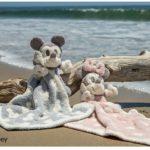 ヴィンテージ・ミッキーマウス/ミニーマウス、ミニブランケット付き