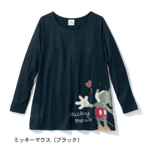 裾フレア長袖チュニックTシャツ ミッキーマウス