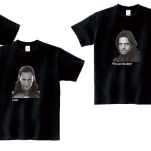 実写俳優デザインTシャツ