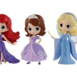 Disney Characters Q posket petit -Ariel・Sofia・Blue Fairy-
