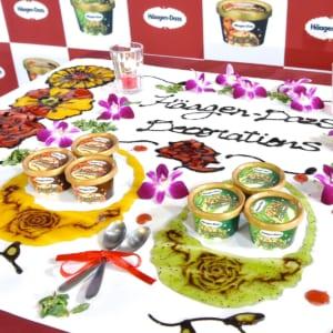 ハーゲンダッツ デコレーションズ『抹茶チーズクッキー』 集合 テーブルアート