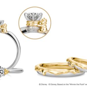 "775799dfe1 ケイ・ウノ プーさん ""Sweet Honey"" | 100エーカーの森がテーマ!ケイ・ウノ ディズニー「くまのプーさん」婚約指輪・結婚指輪"