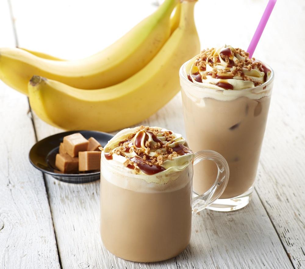 バナナキャラメルクランチラテ