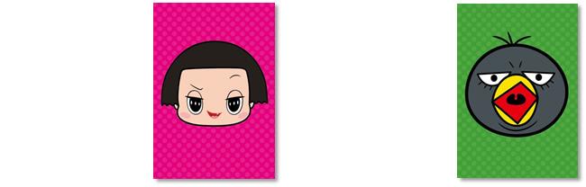 キデイランド「チコちゃんに叱られる!」ミニキャンペーン ポストカード