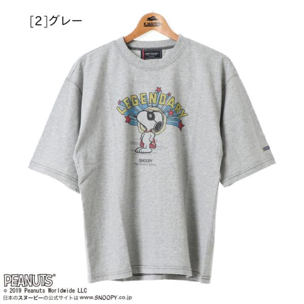 SNOOPY 5分袖 TEE5