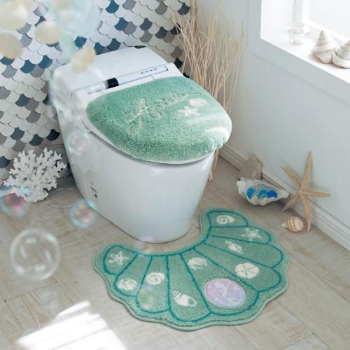 シェル型トイレマット・フタカバー