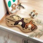 ピーナッツ型の玄関マット