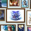 ソラや王様などの美麗アートが満載!Happyくじブロマイド ディズニー『キングダム ハーツ』