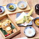 リラックマの穴子と牡蠣の天ぷら御膳