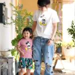 ミッキーマウス ヤシの木柄 Tシャツ2