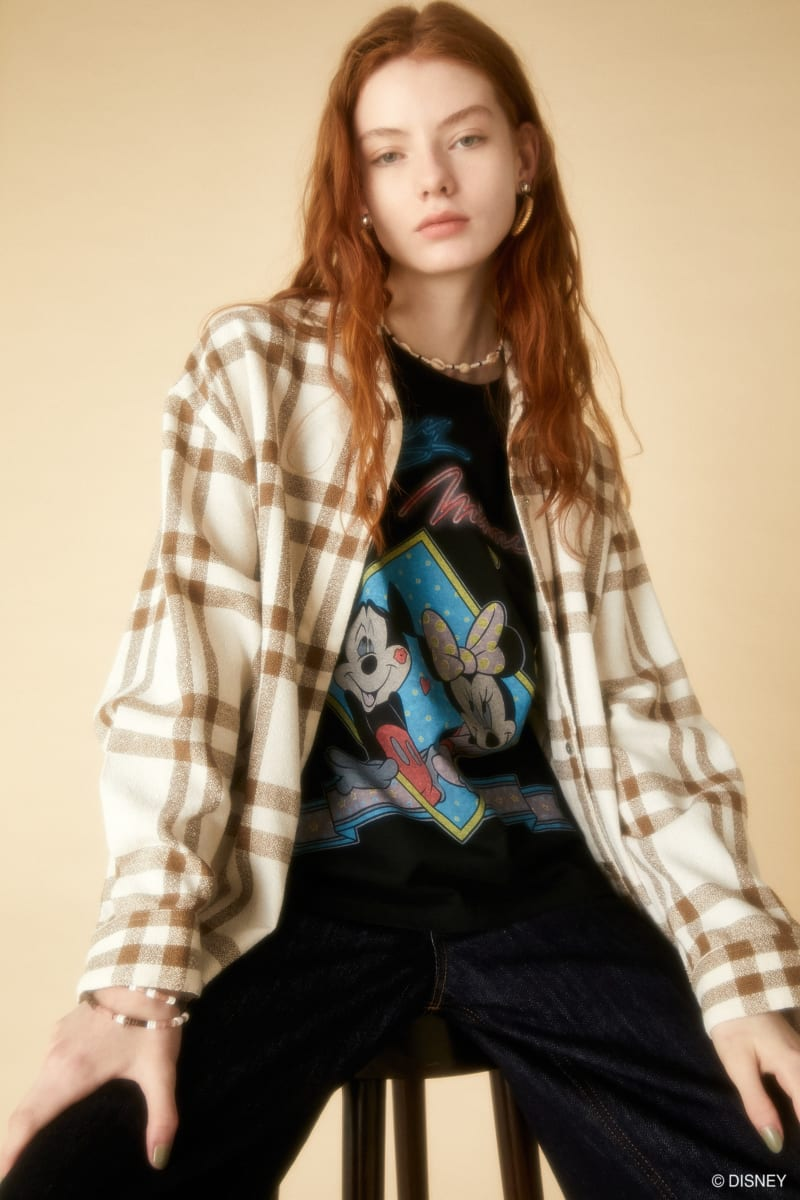 Disney SERIES CREATED by MOUSSY MICKEY & MINNIE ノースリーヴ Tシャツ