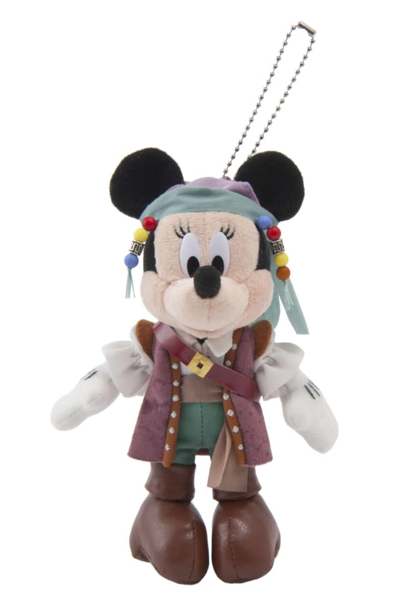 ミニーマウス ぬいぐるみバッジ