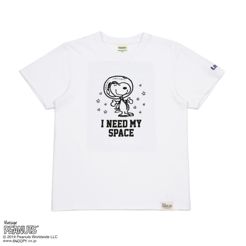 I NEED MY SPACE Tシャツ/SNOOPY×Laundry