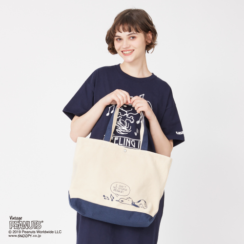 SNOOPY×Laundry FEELING ITトートバッグ2