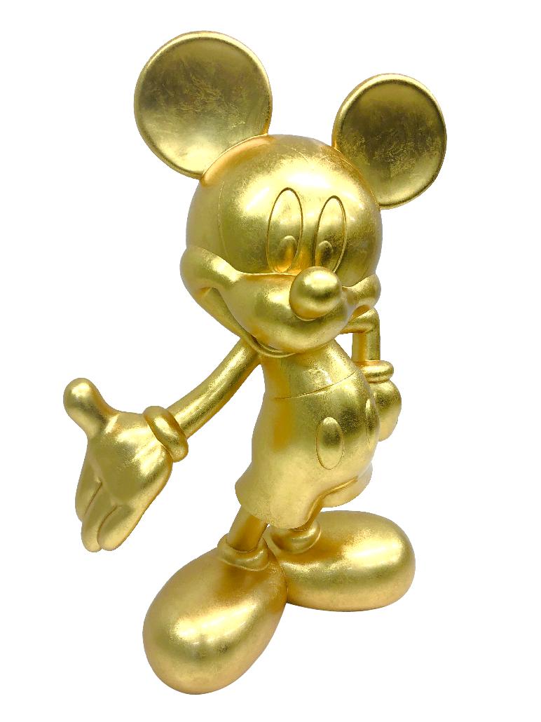 ミッキー90 周年デザイン 金箔のミッキーマウス立像