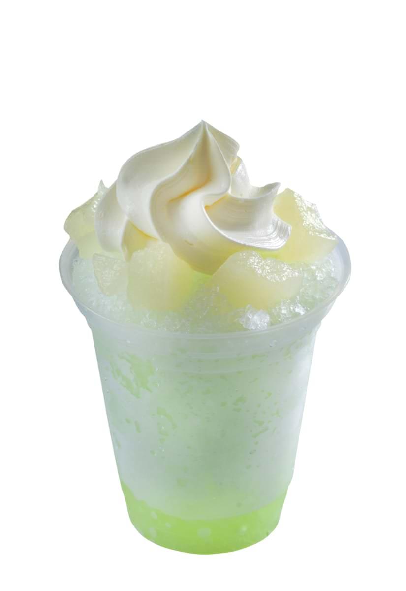 シェイブアイス(梨)ソフトクリーム