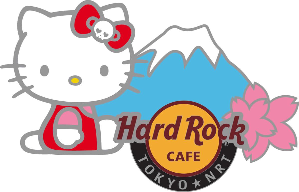 ハードロックカフェ×ハローキティ コラボレーショングッズ ピンバッジ 成田空港店