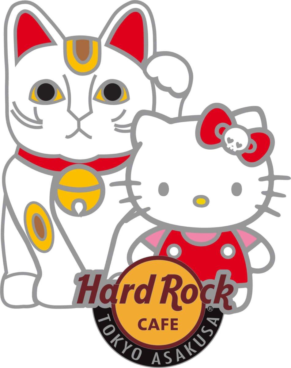 ハードロックカフェ×ハローキティ コラボレーショングッズ ピンバッジ 浅草店