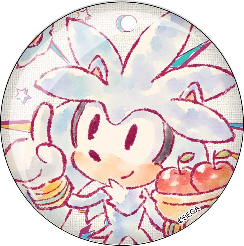 C缶バッジ2個セット「シルバー/チャオ(りんご)」_1