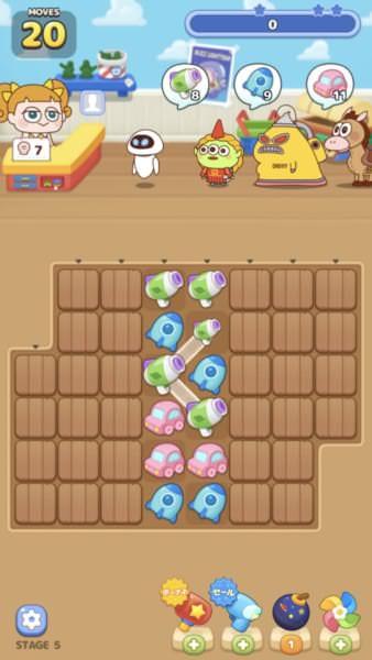 スマホパズルゲーム「LINE:ピクサー タワー 〜おかいものパズル〜」スクリーンショット3
