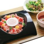 バーバパパのつけ麺風冷製パスタ ~ガスパチョスープ仕立て