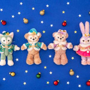 東京ディズニーシー「ダッフィー&フレンズ」カラー・オブ・クリスマス ぬいぐるみバッジ