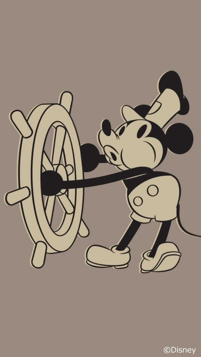 Disney x LINE 11月 壁紙 ミッキー ウィリー