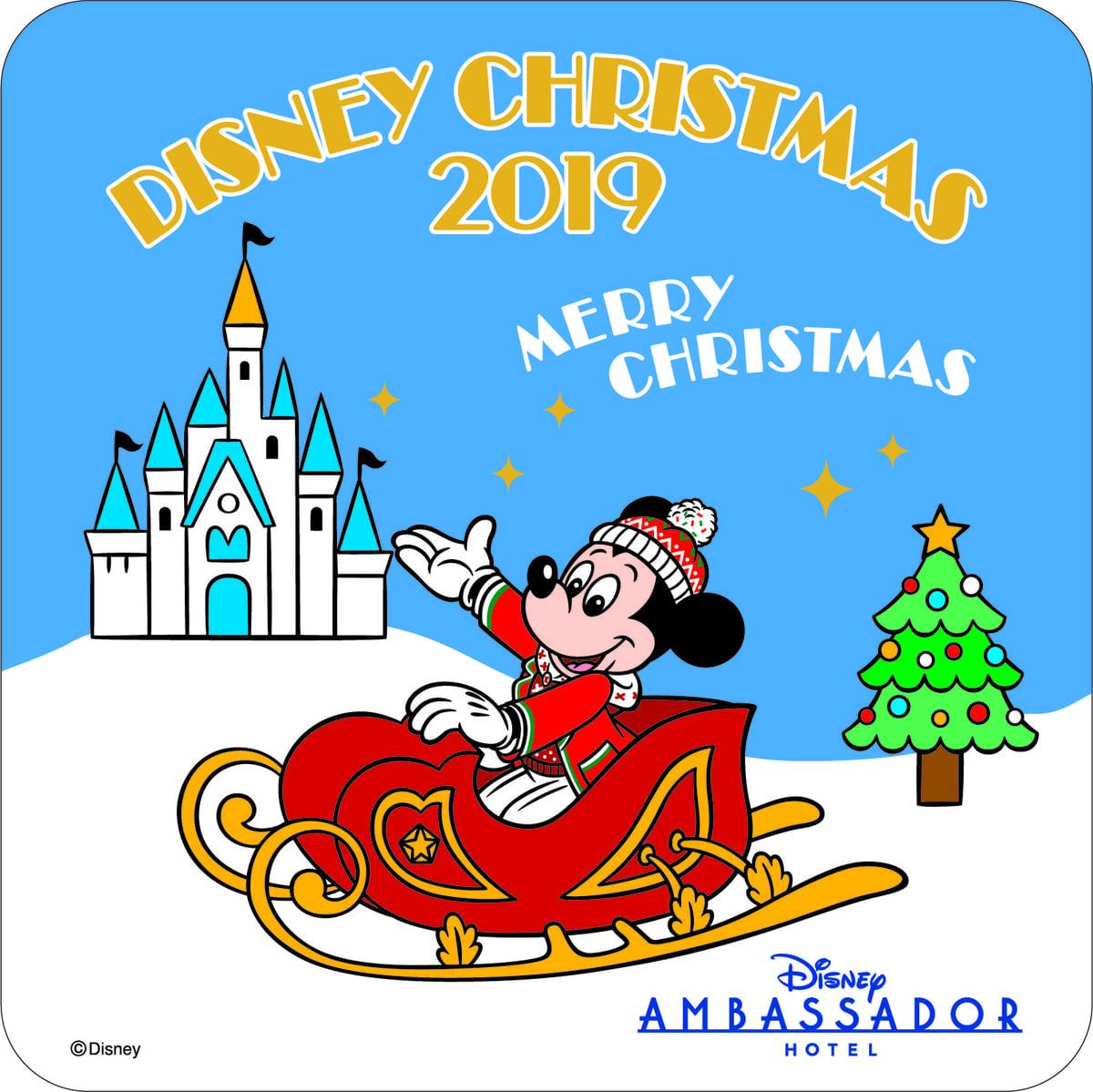 """「シェフ・ミッキー」""""ディズニー・クリスマス""""オリジナルコースター"""