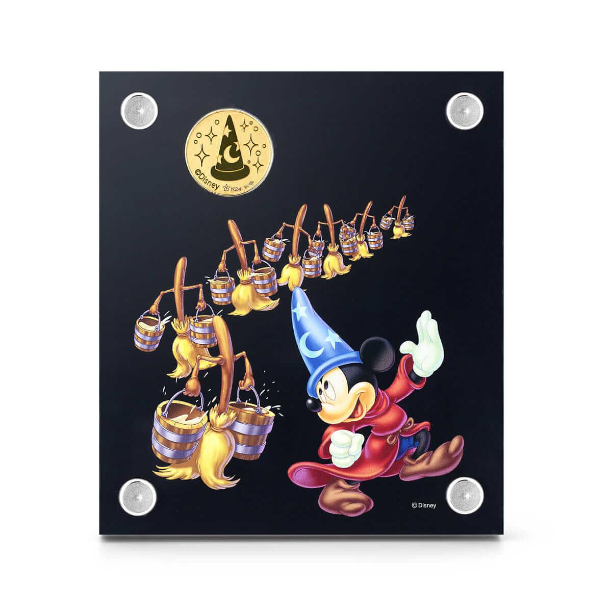 「ミッキーマウス 特別限定純金メダル 『ファンタジア』」(裏面)